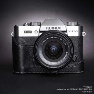 TP Original Leather Camera Body Case for FUJIFILM X-T30/X-T20/X-T10 Black フジフイルム 本革 レザー カメラケース EZ Series|nineselect