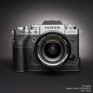 TP Original FUJIFILM X-T4 専用 レザー カメラケース Black ブラック おしゃれ 速写ケース TB06XT4-BK nineselect