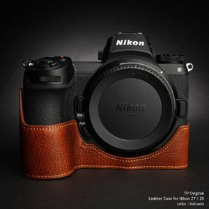 TP Original Leather Camera Body Case for Nikon Z7 / Z6 Volcano ニコン 本革 レザー カメラケース EZ Series TB06Z7-LB|nineselect
