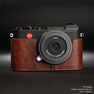 TP Original Leather Camera Body Case for Leica CL Volcano ライカ 本革 カメラケース レザー ケース おしゃれ バッテリー交換可能 EZ Series TB08CL-LB|nineselect