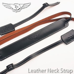 TP Original ティーピー オリジナル Leather Camera Neck Strap 本革カメラネックストラップ TP-1001 Oil Black(オイル ブラック)|nineselect