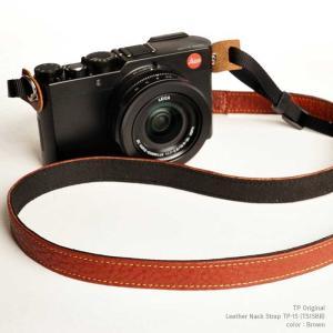 TP Original ティーピー オリジナル Leather Camera Neck Strap 本革カメラネックストラップ TP-15 Brown(ブラウン) TS15BR|nineselect