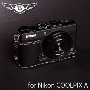 TP Original ティーピー オリジナル Leather Camera Body Case レザーケース for Nikon COOLPIX A おしゃれ 本革 カメラケース Oil Black(オイル ブラック)|nineselect