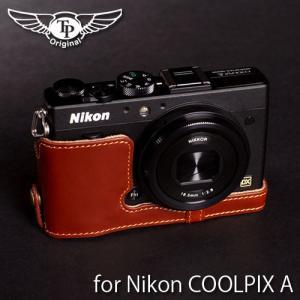 TP Original ティーピー オリジナル Leather Camera Body Case レザーケース for Nikon COOLPIX A おしゃれ 本革 カメラケース Oil Brown(オイル ブラウン) nineselect