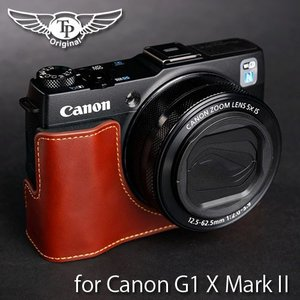 TP Original ティーピー オリジナル Leather Camera Body Case レザーケース for Canon PowerShot G1 X MarkII Oil Brown(オイル ブラウン)|nineselect