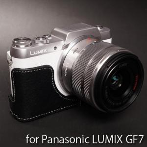 TP Original Leather Camera Body Case レザーケース for Panasonic LUMIX GF7 おしゃれ 本革 カメラケース Black(ブラック)|nineselect