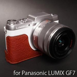 TP Original Leather Camera Body Case レザーケース for Panasonic LUMIX GF7 おしゃれ 本革 カメラケース Brown(ブラウン)|nineselect