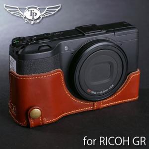 TP Original ティーピー オリジナル Leather Camera Body Case for RICOH GR2 GR おしゃれ 本革 カメラケース Oil Brown(オイル ブラウン)|nineselect