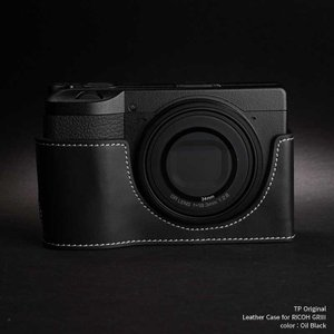 TP Original Leather Camera Body Case for RICOH GR III  Oil Black リコー GR3 本革 レザー カメラケース EZ Series TB04GR3-BK|nineselect