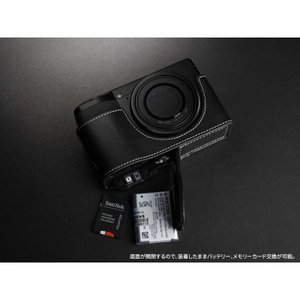 TP Original Leather Camera Body Case for RICOH GR III  Oil Black リコー GR3 本革 レザー カメラケース EZ Series TB04GR3-BK|nineselect|05