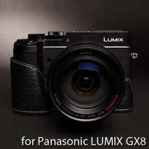 TP Original Leather Camera Body Case レザーケース for Panasonic LUMIX GX8 おしゃれ 本革 カメラケース Black(ブラック)|nineselect