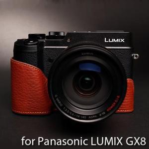 TP Original Leather Camera Body Case レザーケース for Panasonic LUMIX GX8 おしゃれ 本革 カメラケース Brown(ブラウン)|nineselect