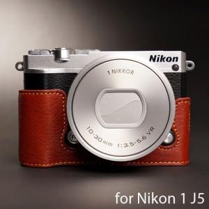 TP Original Leather Camera Body Case レザーケース for Nikon 1 J5 おしゃれ 本革 カメラケース Brown(ブラウン) nineselect