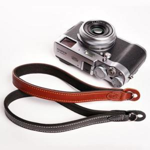 『クリックポストOK!』 TP Original  Leather Camera Wrist Strap 丸リングタイプ おしゃれ 本革 カメラリストストラップ Black/Brown|nineselect