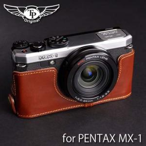 TP Original ティーピー オリジナル Leather Camera Body Case for PENTAX MX-1 おしゃれ 本革 カメラケース Oil Brown(オイル ブラウン)|nineselect