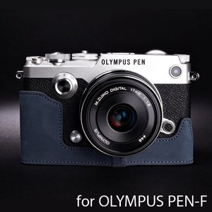 TP Original ティーピー オリジナル Leather Camera Body Case for OLYMPUS PEN-F おしゃれ 本革 カメラケース Navy(ネイビー)|nineselect