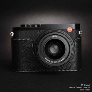 TP Original Leather Camera Body Case for Leica Q2 Black ライカ 本革 レザー カメラケース EZ Series|nineselect