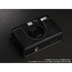 TP Original Leather Camera Body Case for CONTAX T3 Black コンタックス 本革 レザー カメラケース Classic Series TB05T3-BK|nineselect|07