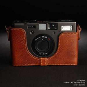 TP Original Leather Camera Body Case for CONTAX T3 Volcano コンタックス 本革 レザー カメラケース Classic Series TB05T3-LB|nineselect