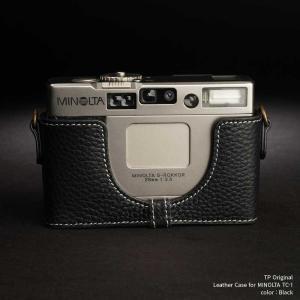 TP Original Leather Camera Body Case for MINOLTA TC-1 Black ミノルタ 本革 レザー カメラケース Classic Series TB05TC1-BK|nineselect