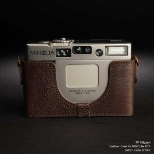 TP Original Leather Camera Body Case for MINOLTA TC-1 Coco Brown ミノルタ 本革 レザー カメラケース Classic Series TB05TC1-CO|nineselect