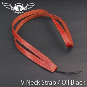 『クリックポストOK!』 TP Original V Leather Camera Neck Strap V型 本革カメラネックストラップ(ヒモタイプ) Oil Brown(オイル ブラウン)|nineselect
