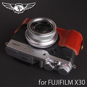 TP Original ティーピー オリジナル Leather Camera Body Case for FUJIFILM X30 おしゃれ 本革 カメラケース Oil Brown(オイル ブラウン)|nineselect