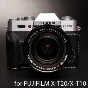 TP Original  Leather Camera Body Case レザーケース for FUJIFILM X-T30/X-T20/X-T10 おしゃれ 本革 カメラケース Black(ブラック)|nineselect