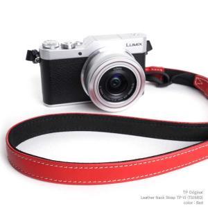 TP Original Leather Camera Neck Strap 本革 カメラストラップ ネックストラップ TP-15 Red レッド TS16RD レザー ストラップ おしゃれ シンプル|nineselect