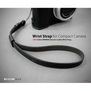 LIM'S Italian MINERVA Genuine Leather Wrist Strap for Compact Camera WS-CC1BK Black コンパクトカメラ用 リストストラップ|nineselect|02