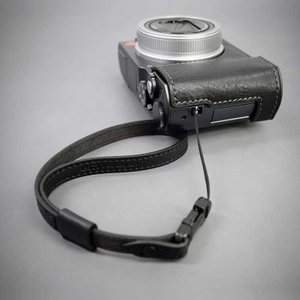 LIM'S Italian MINERVA Genuine Leather Wrist Strap for Compact Camera WS-CC1BK Black コンパクトカメラ用 リストストラップ|nineselect|05
