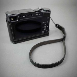 LIM'S Italian MINERVA Genuine Leather Wrist Strap for Compact Camera WS-CC1BK Black コンパクトカメラ用 リストストラップ|nineselect|08