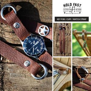 HOLD FAST/ホールドファスト KEY FOB/CUFF/WATCH STRAP WS02-ST 本革 ブレスレット 時計ベルト バンド ウォッチストラップ|nineselect