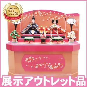 雛人形 ひな人形 限定特価三五親王桜六角収納飾り ningyohonpo