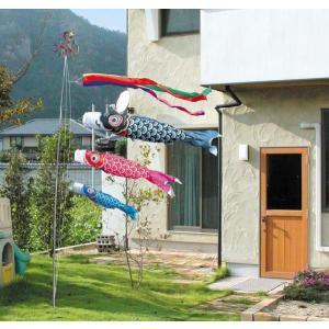 鯉のぼり こいのぼり庭園セット 友禅鯉4m6点庭園用こいのぼりセット(杭打込みタイプポール付き)|ningyohonpo