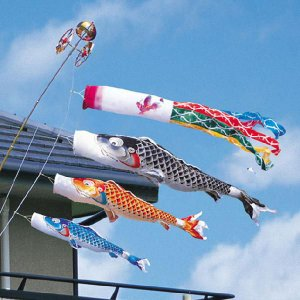 鯉のぼり(こいのぼり) 慶祝の鯉 吉兆2m6点ベランダ用スタンドセット(家紋入れ可能)|ningyohonpo
