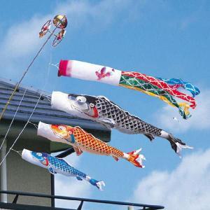 慶祝の鯉 吉兆1.5m6点ベランダ用スタンドセット(家紋入れ可能)|ningyohonpo