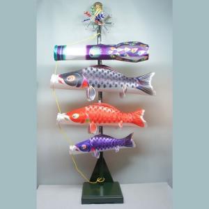 鯉のぼり(こいのぼり)室内飾り 星歌友禅セット(家紋入れ可能)|ningyohonpo