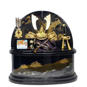 五月人形 送料無料 紫紺塗り楕円収納兜飾りkabuto-49|ningyohonpo
