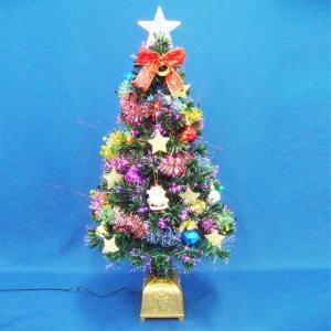 クリスマスツリー 北欧 90cmファイバーツリーセット14 LED付き 飾り|ningyohonpo
