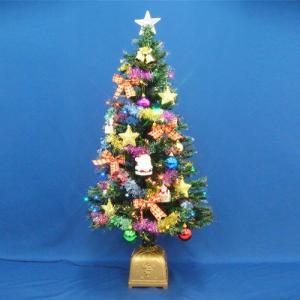 ファイバーツリーセット 120cm LED付き 飾り|ningyohonpo