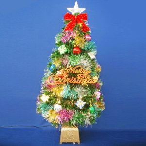 クリスマスツリー 北欧 ファイバーツリー 90cmグリーンファイバーツリーセット12 飾り|ningyohonpo