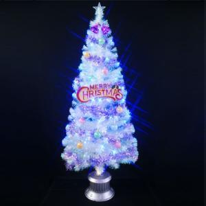 クリスマスツリー 北欧 クリスタルファイバーツリーセット180cm11 ブルーLED球付 飾り|ningyohonpo