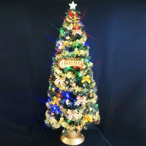 クリスマスツリー 北欧 クリスマスツリー 北欧 グリーンファイバーツリーセット210cm11 マルチLED球付 飾り|ningyohonpo