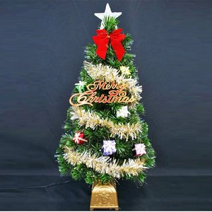クリスマスツリー 北欧 ファイバーツリーセット90cm GI11 飾り|ningyohonpo