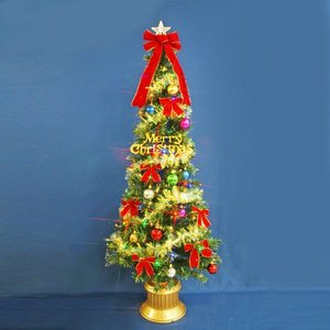 クリスマスツリー 北欧 ファイバーツリー 180cmグリーンファイバーツリーセット12 マルチLED48球付 飾り|ningyohonpo