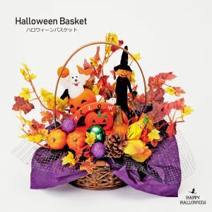 ハロウィンバスケット 手作り 飾り 装飾 パンプキン オブジェ 置物 ハロウィーン ハロウィン 店舗装飾 インテリア 玄関 おしゃれ 猫 黒猫 かぼちゃ おばけ|ningyohonpo
