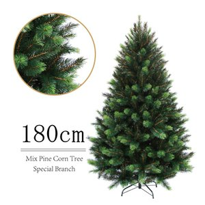 クリスマスツリー 北欧 ミックスパインツリー180cm 飾り|ningyohonpo