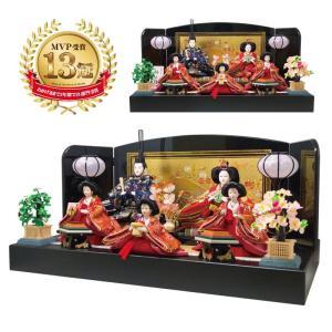 雛人形 ひな人形 五人平飾り コンパクト 雛 親王飾り|ningyohonpo
