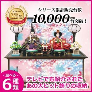 雛人形 ひな人形 コンパクト 小さい 雛 収納飾り 親王飾り【2019年度新作】
